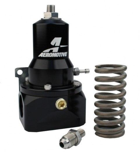 Regulator ciśnienia paliwa Aeromotive Extreme Flow EFI 5-8 Bar ORB-10 Black - GRUBYGARAGE - Sklep Tuningowy